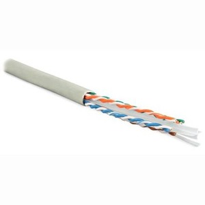 Витая пара в катушке не экранированная Hyperline UUTP4-C6-S23-IN-PVC-GY-305 (305м)