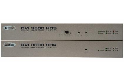 Передача по витой паре KVM (DVI, USB, PS/2, RS-232 и аудио) Gefen EXT-DVI-3600HD