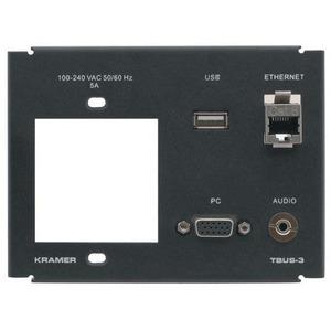 Рамка для TBUS-3 под 1 сетевую розетку, стандартный набор разъемов Kramer T3F-1S