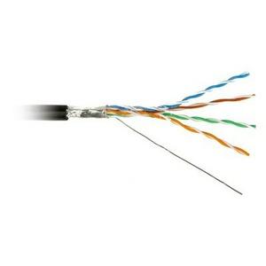 Витая пара в катушке экранированная Hyperline FUTP4-C5E-S24-OUT-LSZH-BK-500 (500м)