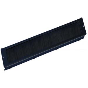Щеточный кабельный ввод для рэкового шкафа Hyperline TCB-TTC2-RAL9004