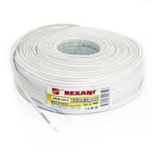Кабель видеонаблюдения Rexant 01-4021 ККСВ-В + 4х0.5мм2, белый (100 метров)