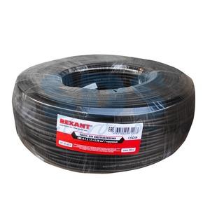 Кабель видеонаблюдения Rexant 01-4013 KBK-П-2x0,50мм2, черный OUTDOOR (200 метров)
