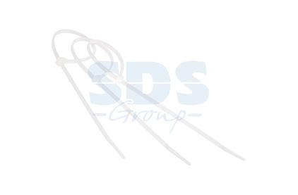 Хомут нейлоновый (кабельная стяжка) Rexant 07-0200-1 белый 200 х 4.0 мм профессиональный (100 штук)