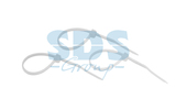 Хомут нейлоновый (кабельная стяжка) Rexant 07-0100-25 белый 100 х 2.5 мм (25 штук)