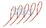 Хомут нейлоновый (кабельная стяжка) Rexant 07-0306-25 красный 300 х 5.0 мм (25 штук)