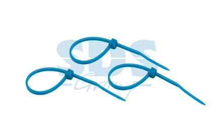 Хомут нейлоновый (кабельная стяжка) Rexant 07-0305-25 синий 300 х 5.0 мм (25 штук)
