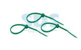 Хомут нейлоновый (кабельная стяжка) Rexant 07-0403-25 зеленый 400 х 5.0 мм (25 штук)