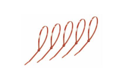 Хомут нейлоновый (кабельная стяжка) Rexant 07-0406-25 красный 400 х 5.0 мм (25 штук)