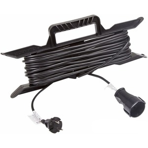 Удлинитель электрический Rexant 11-5210 Удлинитель на рамке 10м (1 роз.) 2х0.75 черный