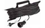 Удлинитель электрический Rexant 11-5240 Удлинитель на рамке 40м (1 роз.) 2х0.75 черный