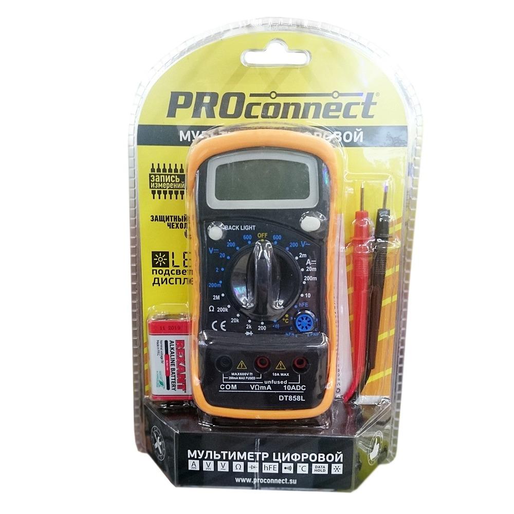 Мультиметр PROconnect 13-3022 Универсальный мультиметр MAS838L(DT858L)