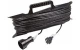 Удлинитель электрический Rexant 11-5250 Удлинитель на рамке 50м (1 роз.) 2х0.75 черный