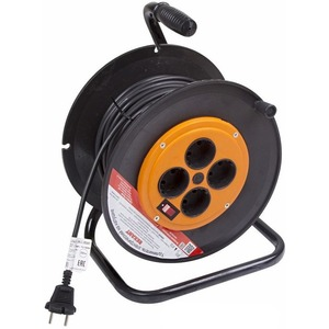 Удлинитель электрический Rexant 11-7530 Удлинитель на катушке 30м (4 роз.) 2х1.0 с вкл.