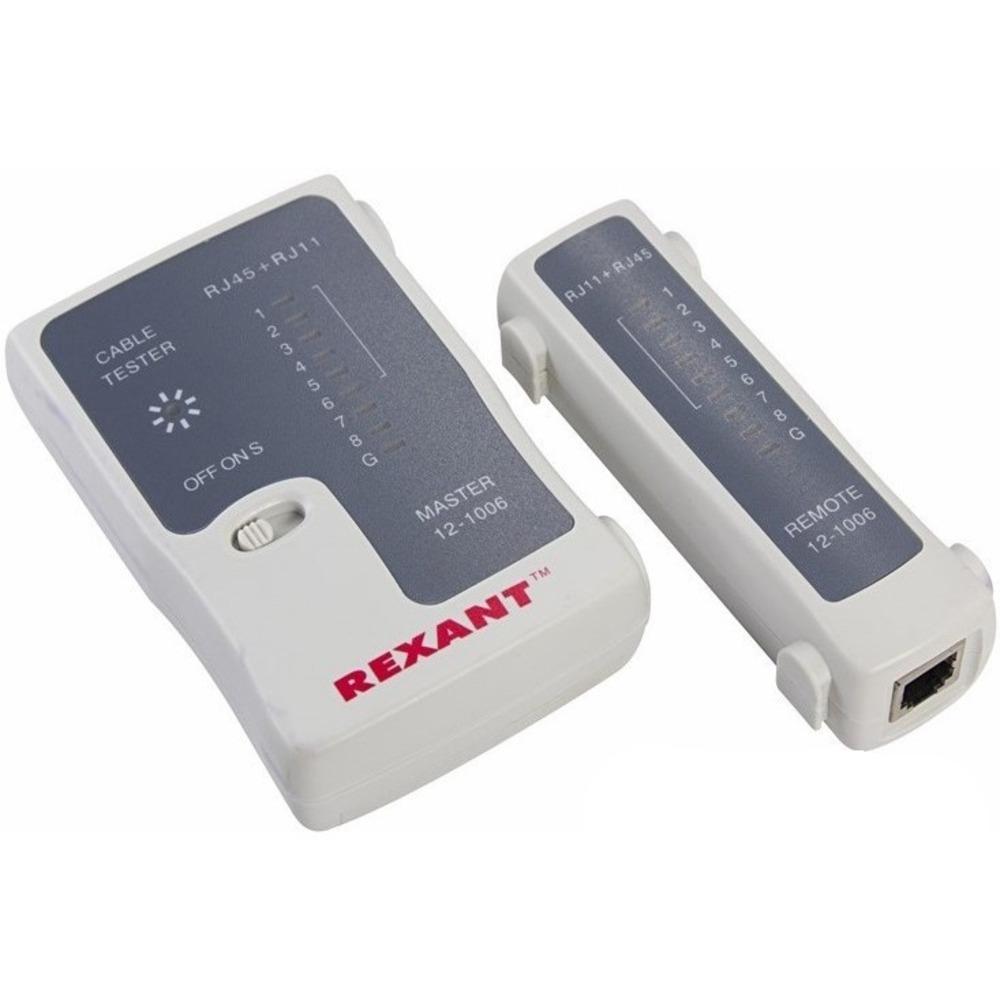 Тестер для проверки кабеля Rexant 12-1006 Тестер Кабеля RJ-45+RJ-11 (HT-C004) (TL-468)