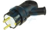 Вилка электрическая PROconnect 11-8508 Вилка угловая с кольцом 2P+E 16А с з/к каучук