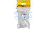 Вилка электрическая PROconnect 11-1057-1 Вилка прямая с/з белая 16А