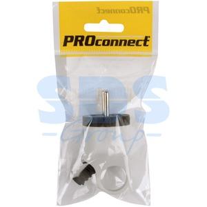 Вилка электрическая PROconnect 11-1052-1 Вилка угловая с ушком (кольцом) с/з белая 16А