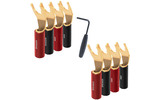 Разъем Лопатка Audioquest SureGrip100 Multi-Spade Gold (Set of 8)