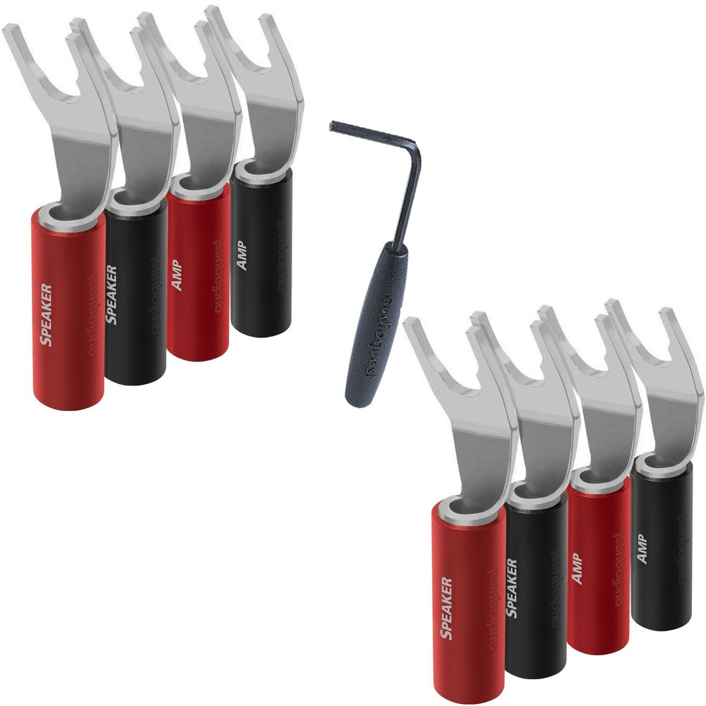Разъем Лопатка Audioquest SureGrip100 Multi-Spade Silver (Set of 8)