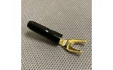 Разъем Лопатка Audioquest P10M/G Spade Gold
