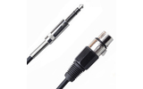 Кабель аудио 1xJack - 1xXLR Rich Pro RP201BLK 0.75m