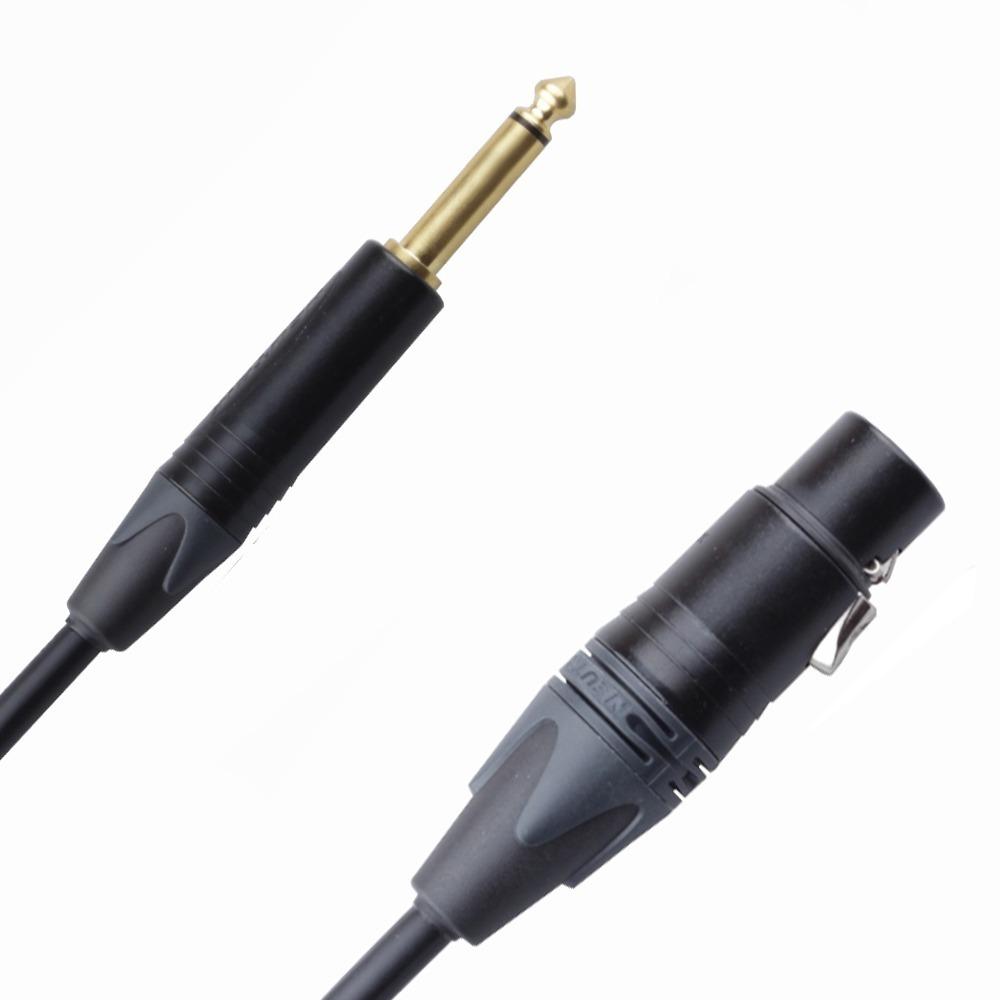 Кабель аудио 1xJack - 1xXLR Rich Pro RP263BLK 35.0m
