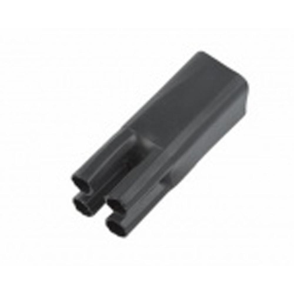 Термоусаживаемая перчатка Rexant 48-4070 на 4 жилы 70.0/32.0мм черная (1 штука)
