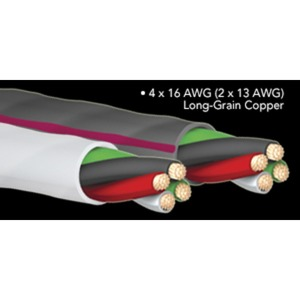 Кабель акустический Bi-Wire Audioquest SLiP-16/4 White