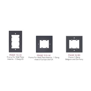 Рамка, типоразмер USA 1G (для трех модулей-вставок) Kramer FRAME-1G/US(G)