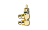 Переходник RCA - RCA Inakustik 0080421 Premium RCA F-Adapter 2-Set