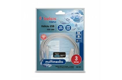 Кабель USB 2.0 Тип A - B Belsis BW1412 3.0m