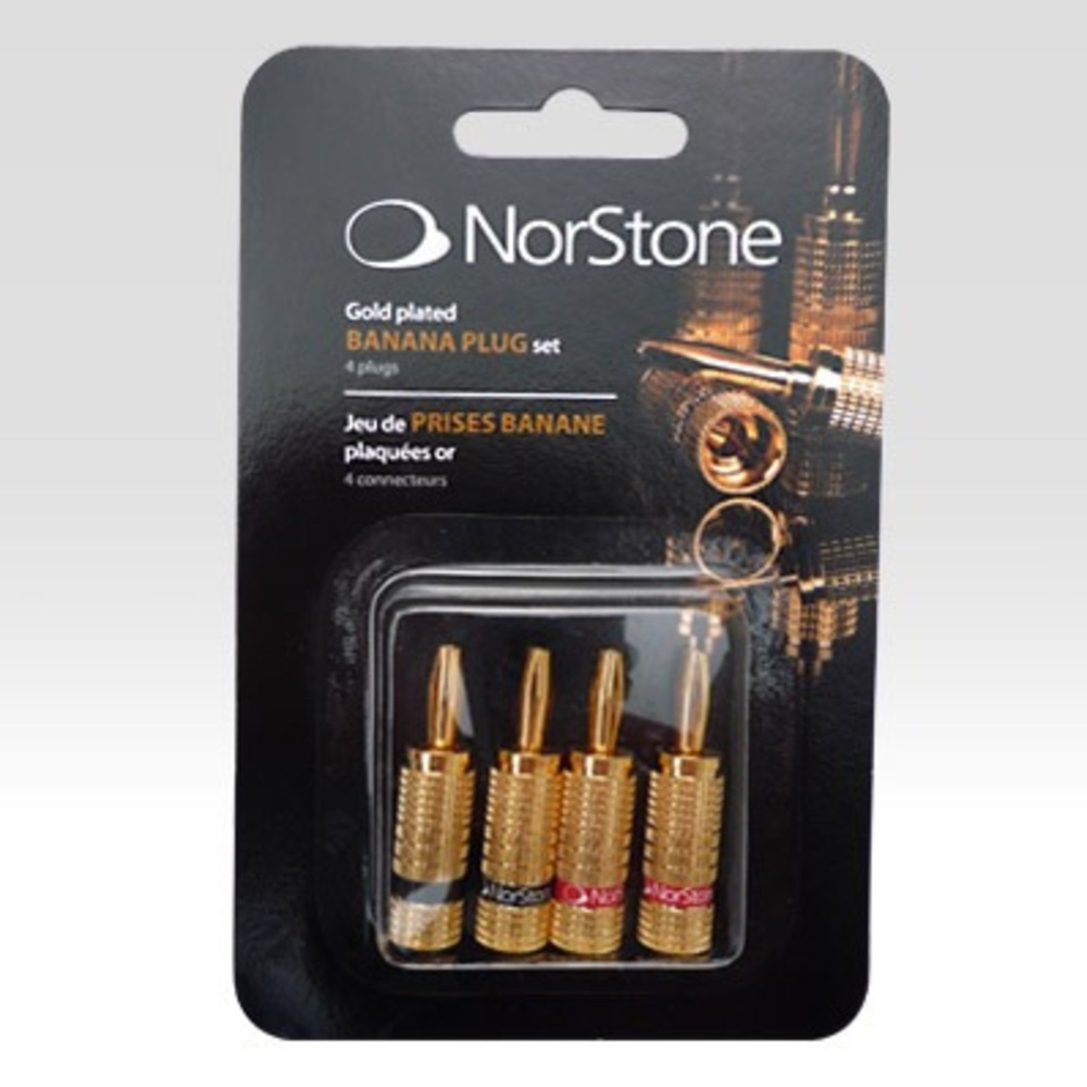 Разъем Банана Norstone Banana Plugs Gold Set-4