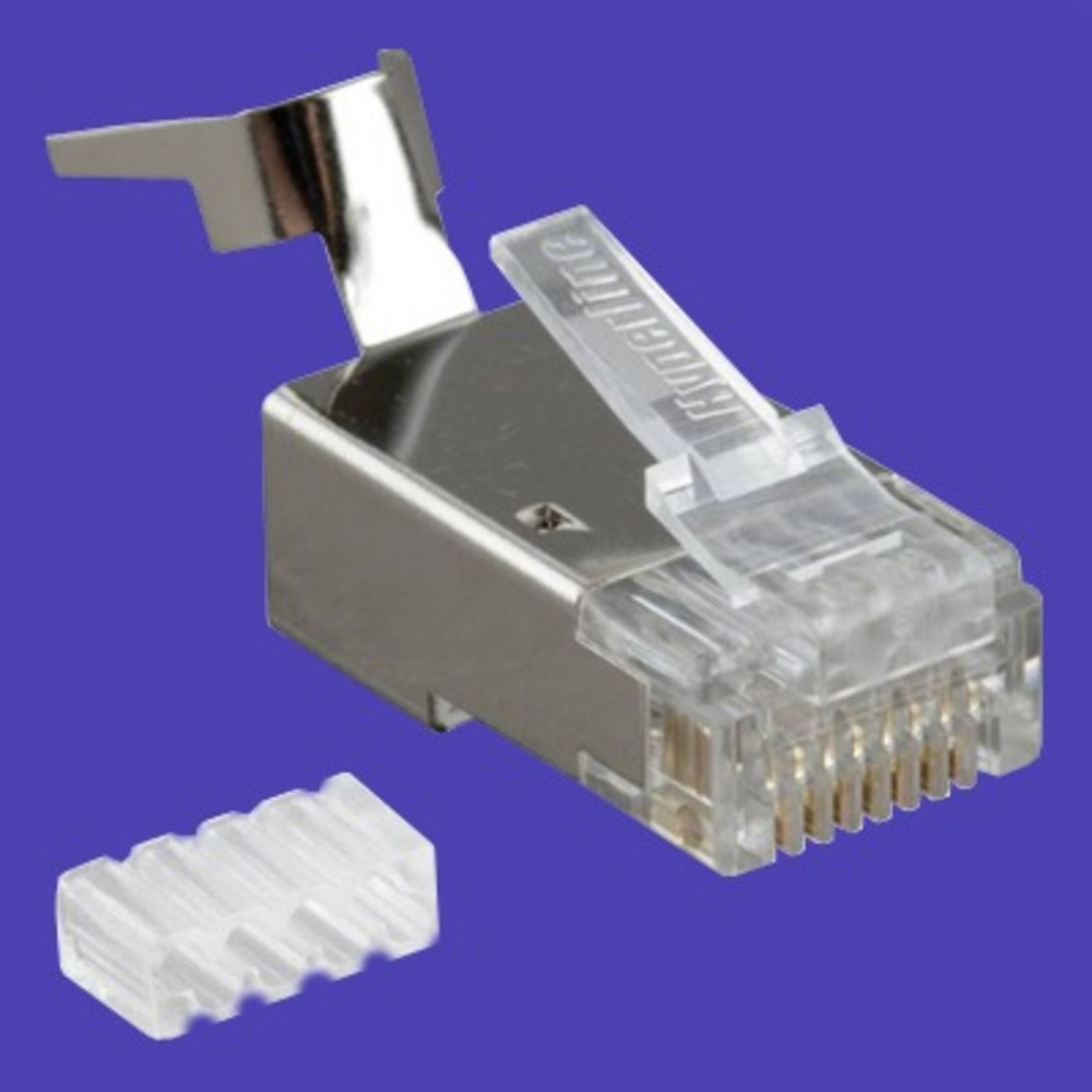 Разъем RJ-45 Hyperline PLUG-8P8C-UV-C6-TW-SH (1 шт)