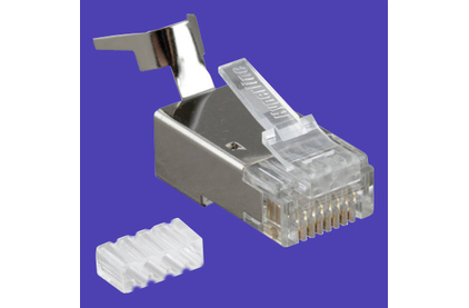 Разъем RJ45 Hyperline PLUG-8P8C-UV-C6-TW-SH (1 шт)