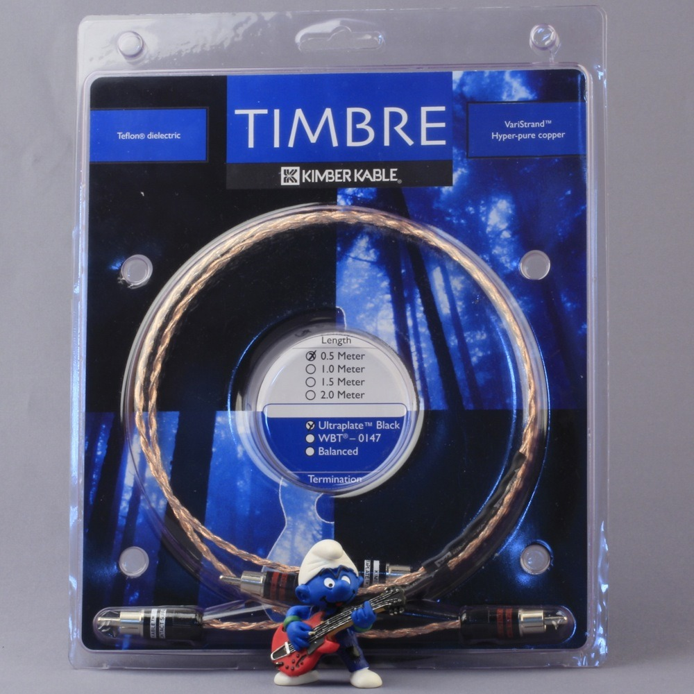Кабель аудио 2xRCA - 2xRCA Kimber Kable Timbre Ultraplate Black 2.0m