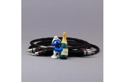 Кабель аудио 2xRCA - 2xRCA Kimber Kable HERO Ultraplate Black 0.5m