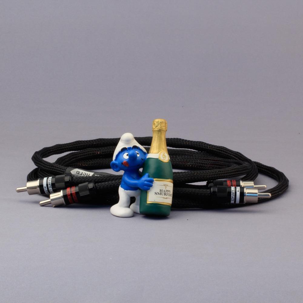 Кабель аудио 2xRCA - 2xRCA Kimber Kable HERO Ultraplate Black 1.5m