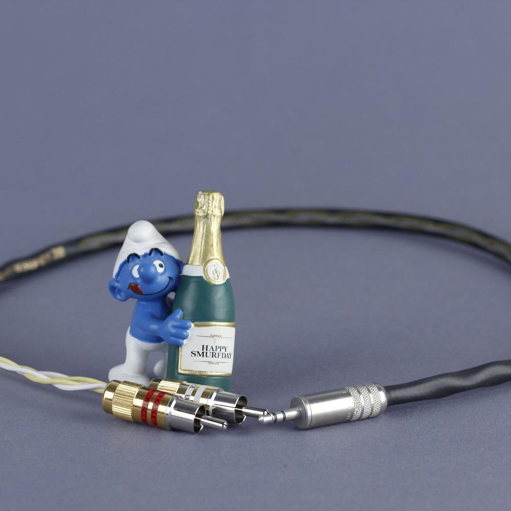 Кабель аудио 1xMini Jack - 2xRCA Kimber Kable GQ Mini Cu Ultraplate 1.5m