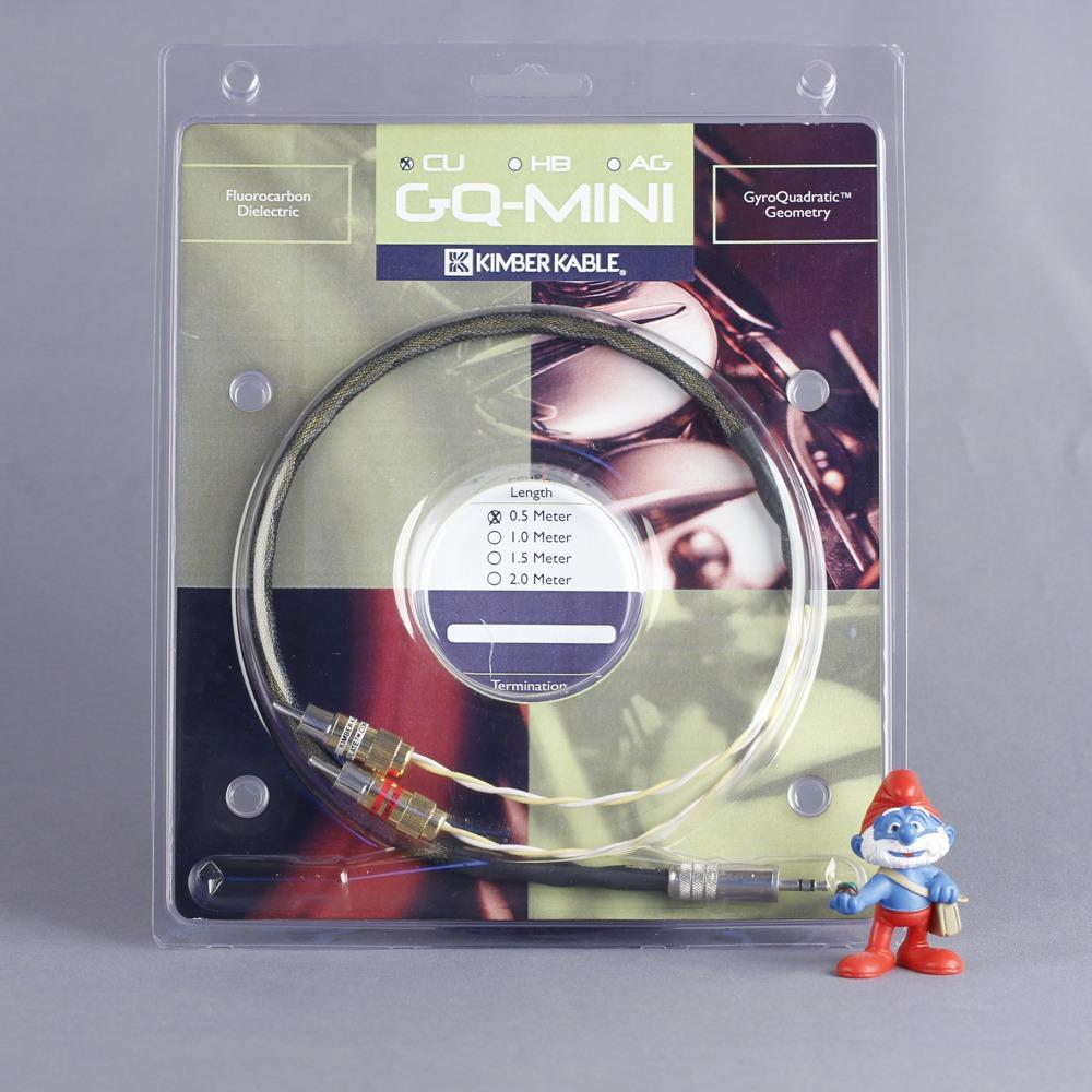 Кабель аудио 1xMini Jack - 2xRCA Kimber Kable GQ Mini Cu Ultraplate 1.0m