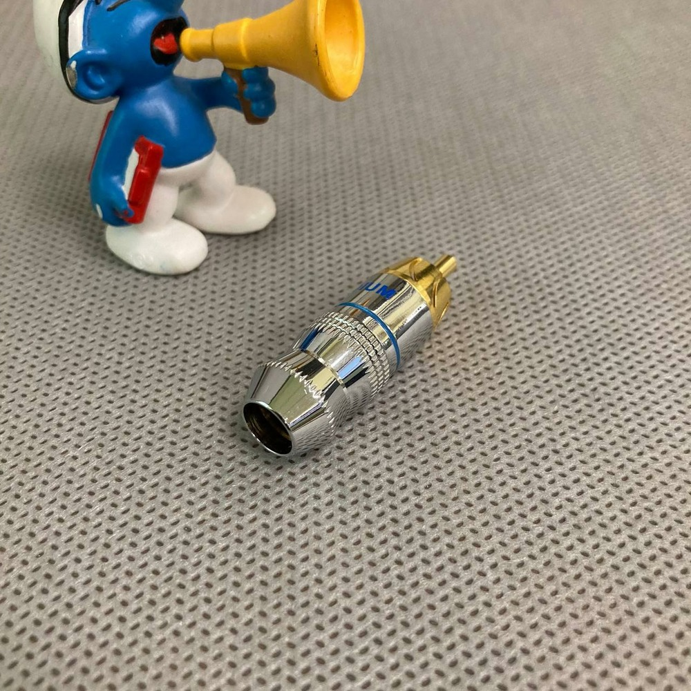 Разъем RCA (Папа) Black Rhodium Gold Plated Phono RCA 8mm Blue