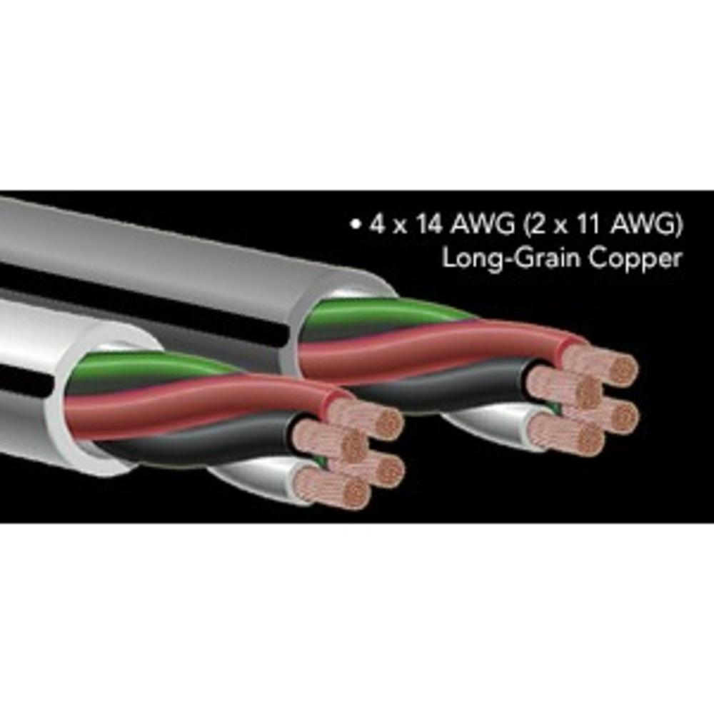 Кабель акустический Bi-Wire Audioquest FLX/DB-14/4 White