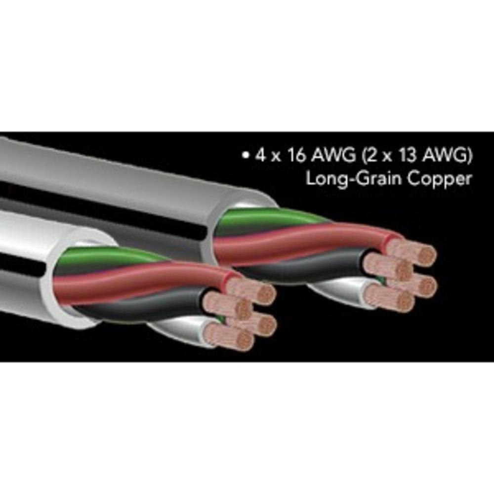 Кабель акустический Bi-Wire Audioquest FLX/DB-16/4 White