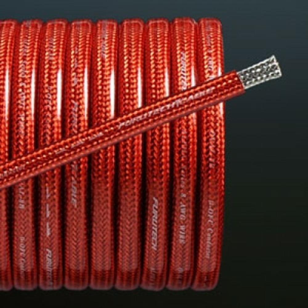 Аккумуляторный кабель в нарезку Furutech OVAL-4B Red