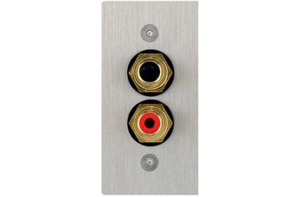 Розетка аудио/видео Inakustik 00980085026 Premium AV Blende AUDIO 56x28 mm