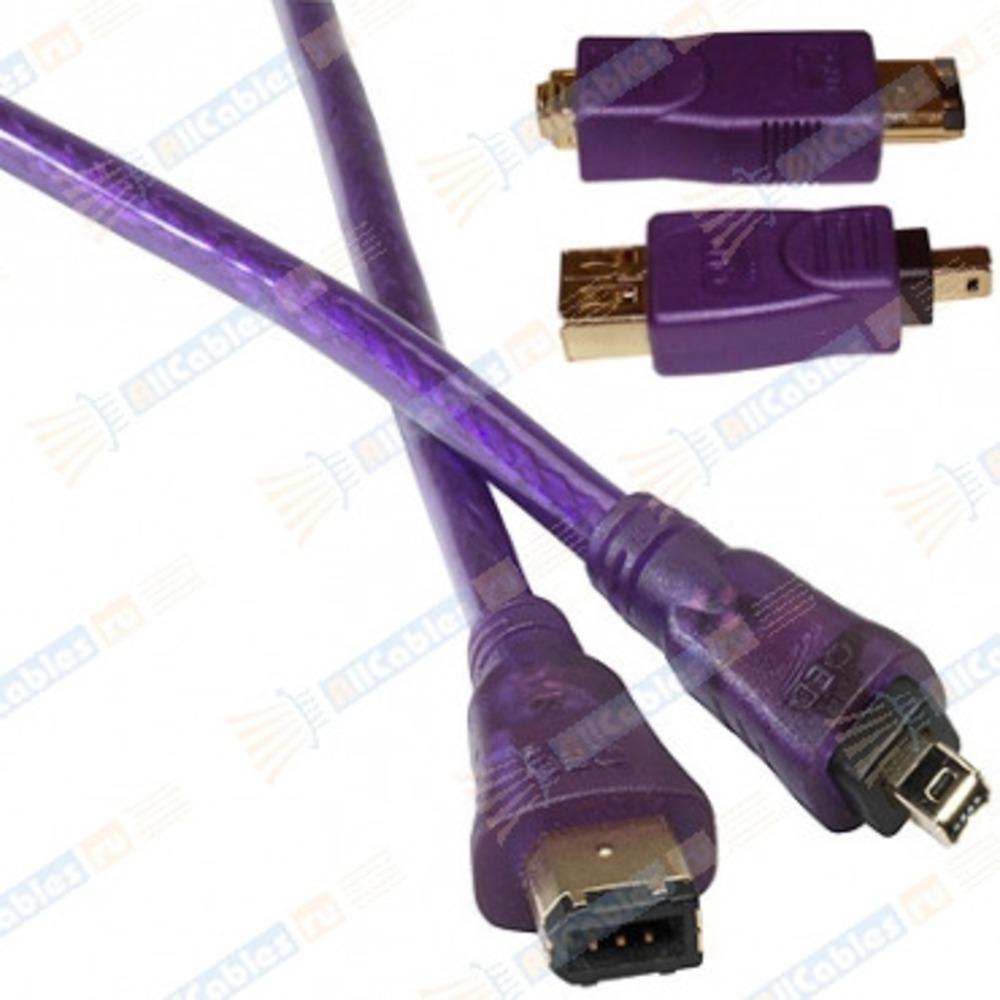 Кабель IEEE 1394 4pin - 6pin QED (QE5255) Profile FireWire 1.0m