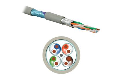 Отрезок кабеля витая пара Hyperline (арт. 3803) USTP4-C6a-SOLID-INDOOR 2.0m