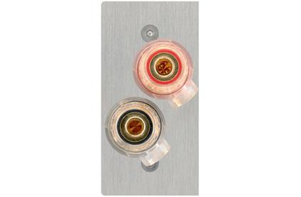 Розетка акустическая Inakustik 00980105026 Premium AV Blende LS-TERMINAL 56x28 mm