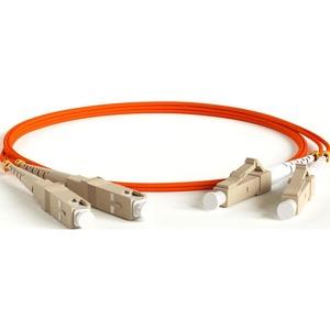 Патч-корд волоконно-оптический Hyperline FC-D2-50-LC/PR-SC/PR-H-15M-LSZH-OR 15.0m