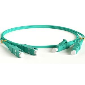 Патч-корд волоконно-оптический Hyperline FC-D2-503-LC/PR-SC/PR-H-10M-LSZH-AQ 10.0m